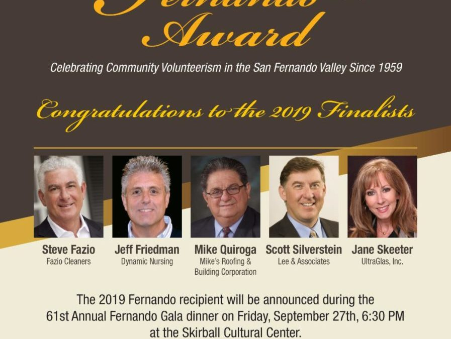 Fernando Award Finalists Announced